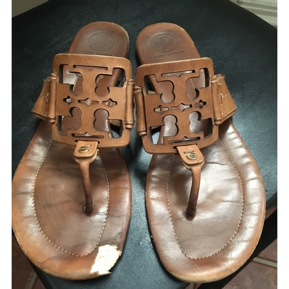 Leather tan Tory Burch sandals size 10